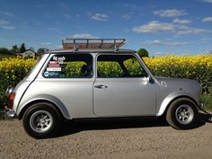 "classic mini w/ roof rack & 10"" GB wheels"