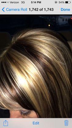Brown & blonde / hi-lite / lo-lite....