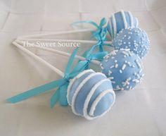 Blue & White Cake Pops