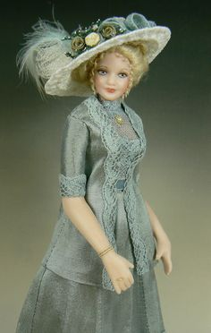1:12 Scale Dollhouse Lady Doll by Debbie Dixon-Paver