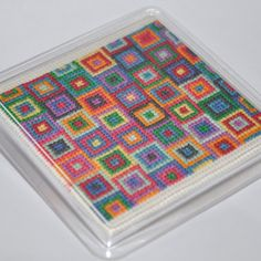 Items similar to Hadaly - Contemporary Cross Stitch Coaster kit on Etsy