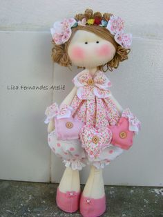 Boneca Russa 3 corações. #licafernandesatelie