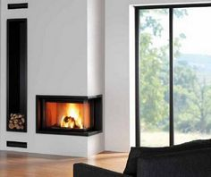 cozy corner fireplace
