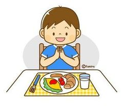 Illustration of a boy eating breakfast (color) Pre School, Sunday School, Cute Clipart, Kids Education, Life Skills, Kids And Parenting, Teaching Kids, Art For Kids, Activities For Kids