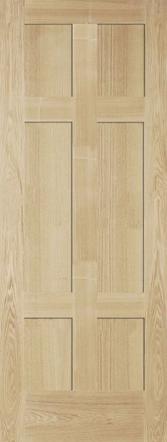 JELDWEN ANDERTON 6 PANEL OAK VENEER 35MM INTERNAL DOOR