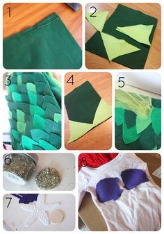 ariel costume collage