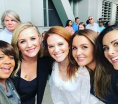 Beautiful women inside and out. I'm the luckiest girl to get to work with them everyday Anatomy Grey, Greys Anatomy April, Serie Grey's Anatomy, Greys Anatomy Funny, Grey's Anatomy Tv Show, Greys Anatomy Characters, Greys Anatomy Cast, Grey Anatomy Quotes, Derek Shepherd