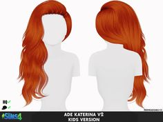 Coupure Electrique: Ade Darma's Katerina V2 hair retextured kids version - Sims 4 Hairs - http://sims4hairs.com/coupure-electrique-ade-darmas-katerina-v2-hair-retextured-kids-version/