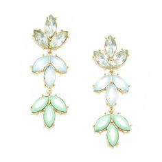 Leaf Tiered Earring  - Mint
