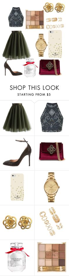 """""""12 days of Christmas Day 4"""" by chiclifewithstyle on Polyvore featuring Chicwish, Valentino, Bebe, Kate Spade, Lacoste, Forever 21, Victoria's Secret and 12daysofchristmas"""