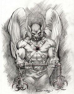 Boceto de Hawkman, por Dale Eaglesham