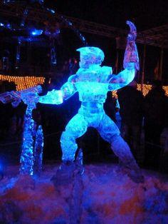 Master Chief ice sculpture