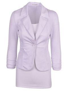Womens Blazer - One Button / Two Lapels / Office Wear