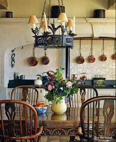 Kitchen in home in a the Cotswold's England - Jane Hall Design Cotswold's English style dining room