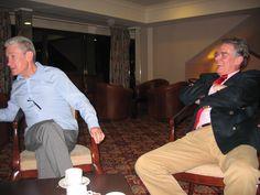 Taking coffee - Dave Kernaghan and Graham King