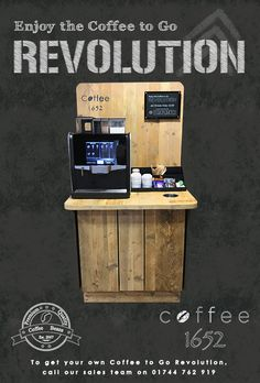 A low cost Coffee to Go Revolution, up to seven cup sales a day covers your costs. Contact Coffee 1652 for details. #coffee1652, #coffee-to-go-revolution