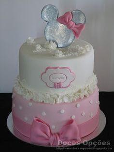 Doces Opções: Bolo Minnie Mouse Bolo Minnie, Cake, Disney, Party, Desserts, Cakes, Tailgate Desserts, Deserts, Kuchen