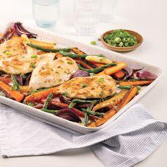 Poulet teriyaki sur la plaque - Les recettes de Caty Sauce Teriyaki, Coco, Chicken, Simple, Nutrition, Teriyaki Chicken, Meat, Diabetic Recipes