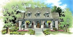House Plan 65779 | Country Plan with 2123 Sq. Ft., 3 Bedrooms, 3 Bathrooms, 2 Car Garage at family home plans