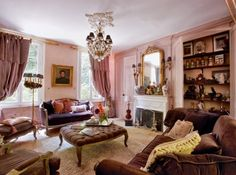 Salon rose / Pink living room
