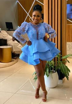 Nigerian Lace Styles Dress, Lace Gown Styles, African Lace Dresses, African Fashion Dresses, Fashion Outfits, Dress Outfits, Short Gowns, Aso Ebi Styles, African Print Fashion