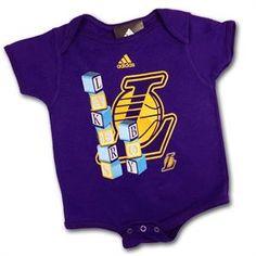 Lakers Boy, Lakers Baby Blocks Body Suit