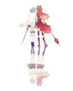 juuichi miki sayaka puella magi madoka magica sakura kyouko seifuku sword thighhighs   yande.re