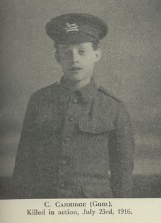 C Cammidge: one of the many men from our York factory who gave their lives in the First World War.
