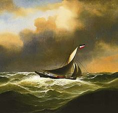 """the cutter """"Elfe"""" on the north sea in 1868"""