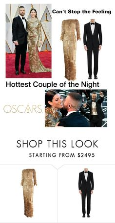 """""""The Oscar's Hottest Couple"""" by kotnourka ❤ liked on Polyvore featuring Patricia Lester and Ralph Lauren Purple Label"""