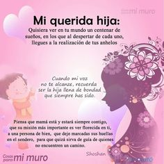 Ideas Para Hacer Un Regalo para una hija - Yahoo Image Search Results Dear Daughter, Daughter Quotes, Mom Quotes, Life Quotes, Funny Quotes, Free To Use Images, Love My Kids, Spanish Quotes, Home Interior