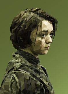 Il réalise de superbes portraits de Game Of Thrones en mode polygonal