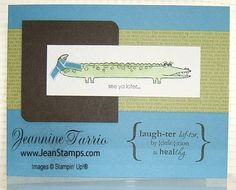 Long Fellows Alligator and Word Play by Jeanstamping - Cards and Paper Crafts at Splitcoaststampers