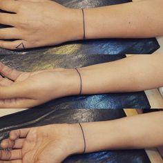 tattoo line tattoo bracelet - Google Search