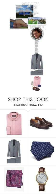 """""""(A) Carries out engagements in Yorkshire, then holds the weekly audience with the PM"""" by immortal-longings ❤ liked on Polyvore featuring Forsyth of Canada, John Lobb, PS Paul Smith, The Men's Store, Brooks Brothers, Breguet, men's fashion and menswear"""