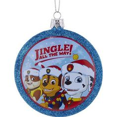 kurt adler 3375 paw patrol shatterproof disc ornament - Paw Patrol Christmas Decorations