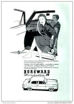 Original-Werbung/ Anzeige 1958 - 1/1 Seite - BORGWARD ISABELLA - ca. 180 x 240 mm