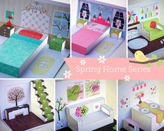 Creative play - Dollhouse & Dolls Spring series by BigHlittlei Creative Arts And Crafts, Creative Play, Toddler Learning Activities, Learning Toys, Paper Doll House, Paper Dolls, Diy For Kids, Crafts For Kids, Operation Shoebox