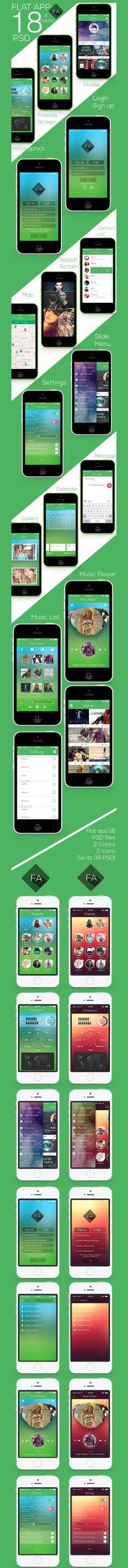 Flat app Full Project
