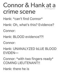 Detroit Become Human, Connor, Hank