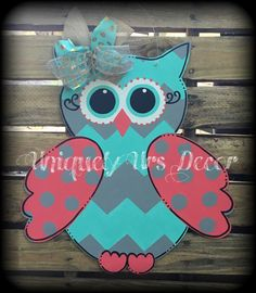 A personal favorite from my Etsy shop https://www.etsy.com/listing/277606330/owl-door-hanger