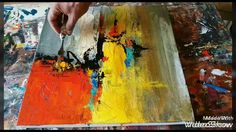 Acrylic abstract painting demonstration #Palette knife blending