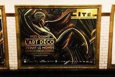 """Affiche exposition """"1925, quand l'Art Déco séduit le monde"""". #Paris #Affiche"""