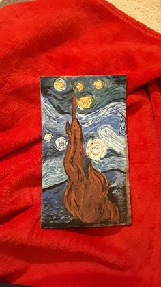 My take on Van Gogh on a piece of cardboard