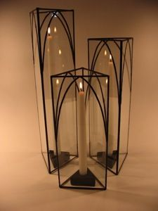 Candle Chimneys by Greenbrier Glass Studio