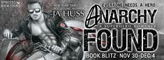 New Release  Excerpt  Giveaway: Anarchy Found by JA Huss