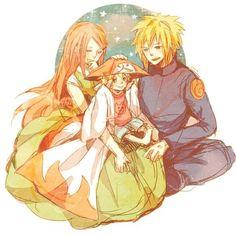 Naruto - Kushina, Minato and Naruto