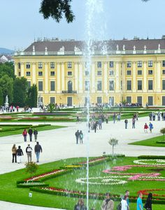 Schonbrunn ,Vienna, Austria. I've been here. It's beautiful.