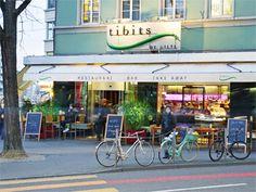 Vegetarian Restaurant Tibits in Zurich, Bellevue, Switzerland