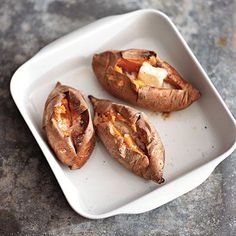 Baked sweet potatoes are terrific with just a little butter and seasoning. Purists will love this recipe but if you need a little...